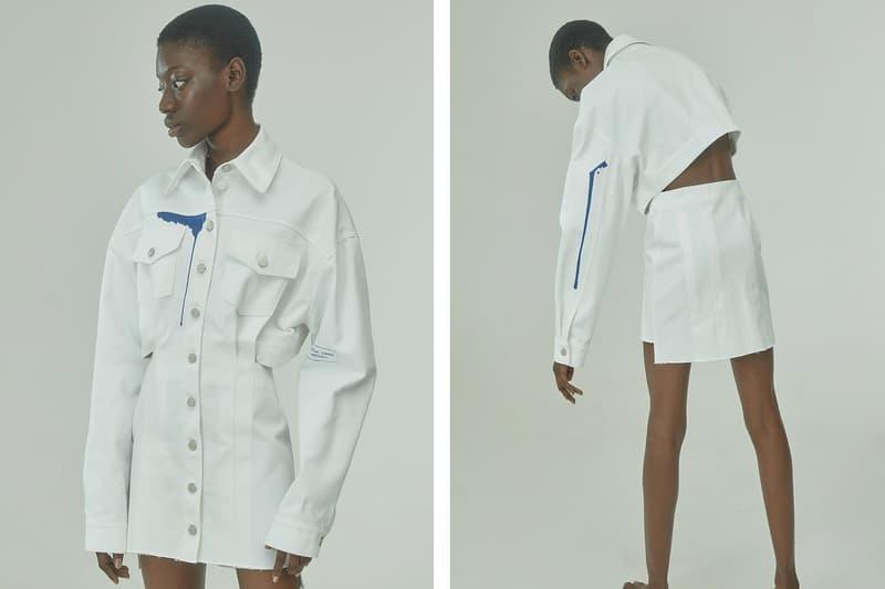 TTSWTRS Spring/Summer 2020 Collection Lookbook Denim Mini Dress White