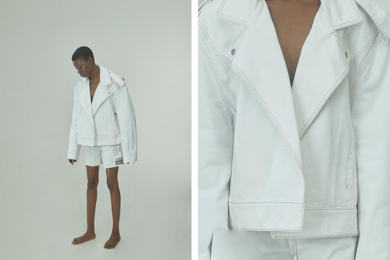 TTSWTRS Spring/Summer 2020 Collection Lookbook Denim Biker Jacket Shorts White