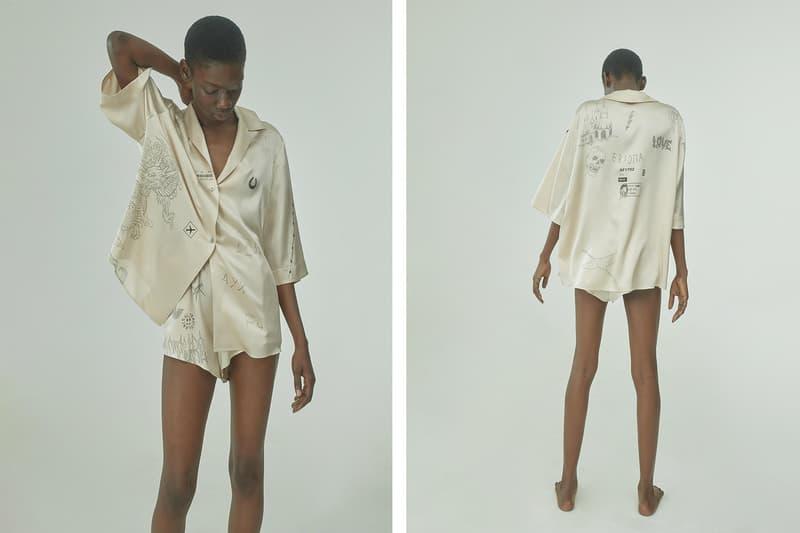 TTSWTRS Spring/Summer 2020 Collection Lookbook Hawaiian Shirt Shorts Silk Beige
