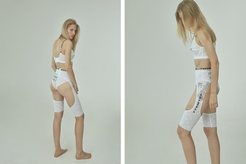 TTSWTRS Spring/Summer 2020 Collection Lookbook Babushka Bra Briefs White