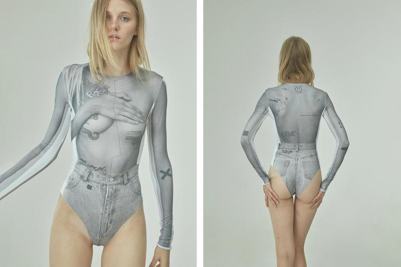 TTSWTRS Spring/Summer 2020 Collection Lookbook Bodysuit Collage Grey