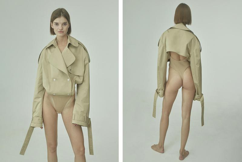 TTSWTRS Spring/Summer 2020 Collection Lookbook Bodysuit With Coat Beige Nude