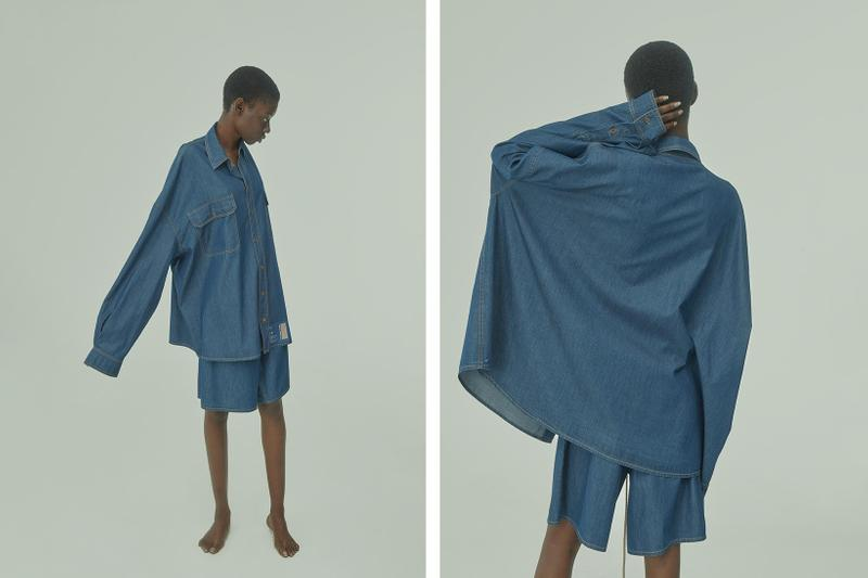 TTSWTRS Spring/Summer 2020 Collection Lookbook Denim Shirt Shorts Blue navy