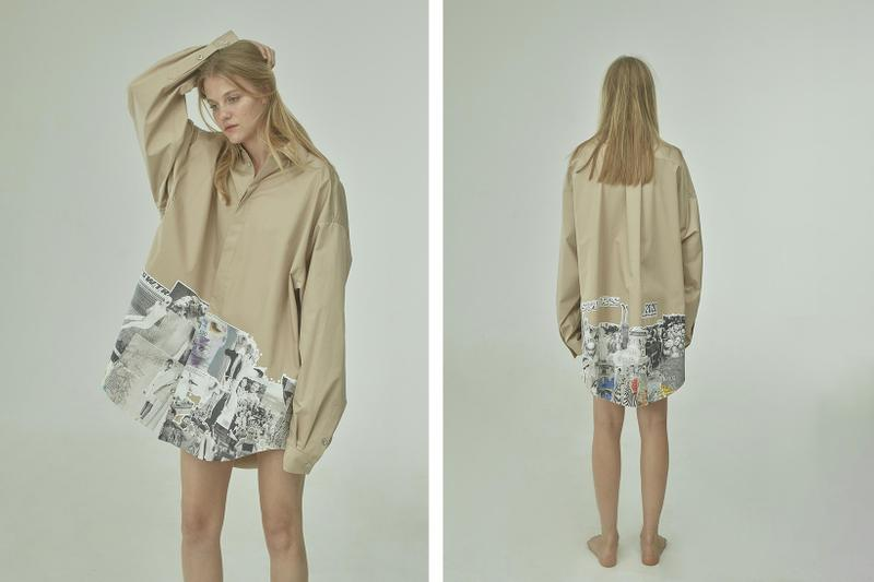 TTSWTRS Spring/Summer 2020 Collection Lookbook Oversized Shirt Collage Beige