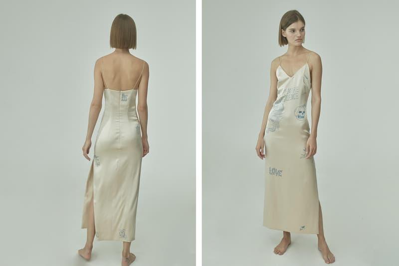 TTSWTRS Spring/Summer 2020 Collection Lookbook Tattooed Silk Dress Beige