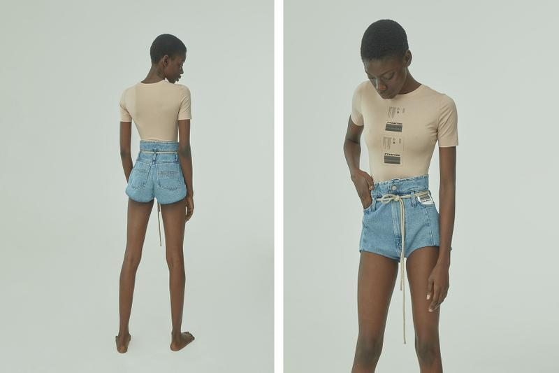 TTSWTRS Spring/Summer 2020 Collection Lookbook Denim Mini Shorts Blue