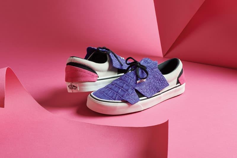 vans origami pack era slip on sneakers black white purple shoes footwear sneakerhead