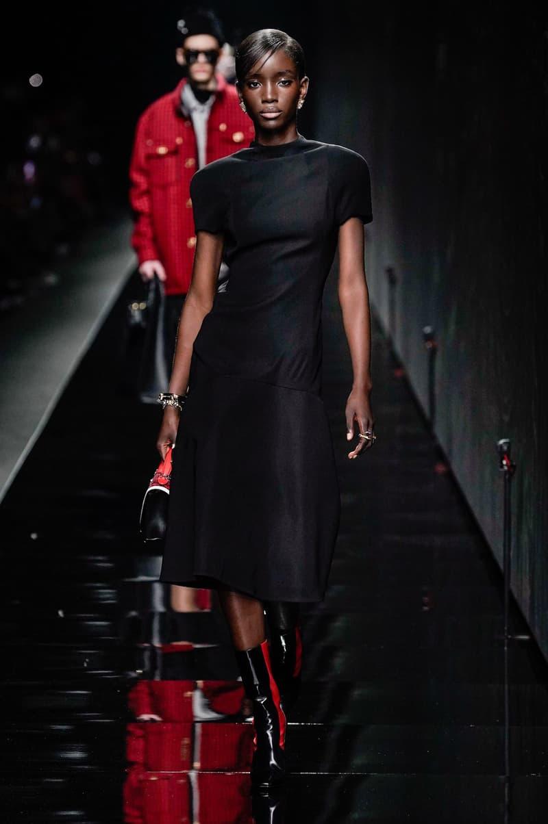 Versace Fall/Winter 2020 Collection Runway Show Maxi Dress Black