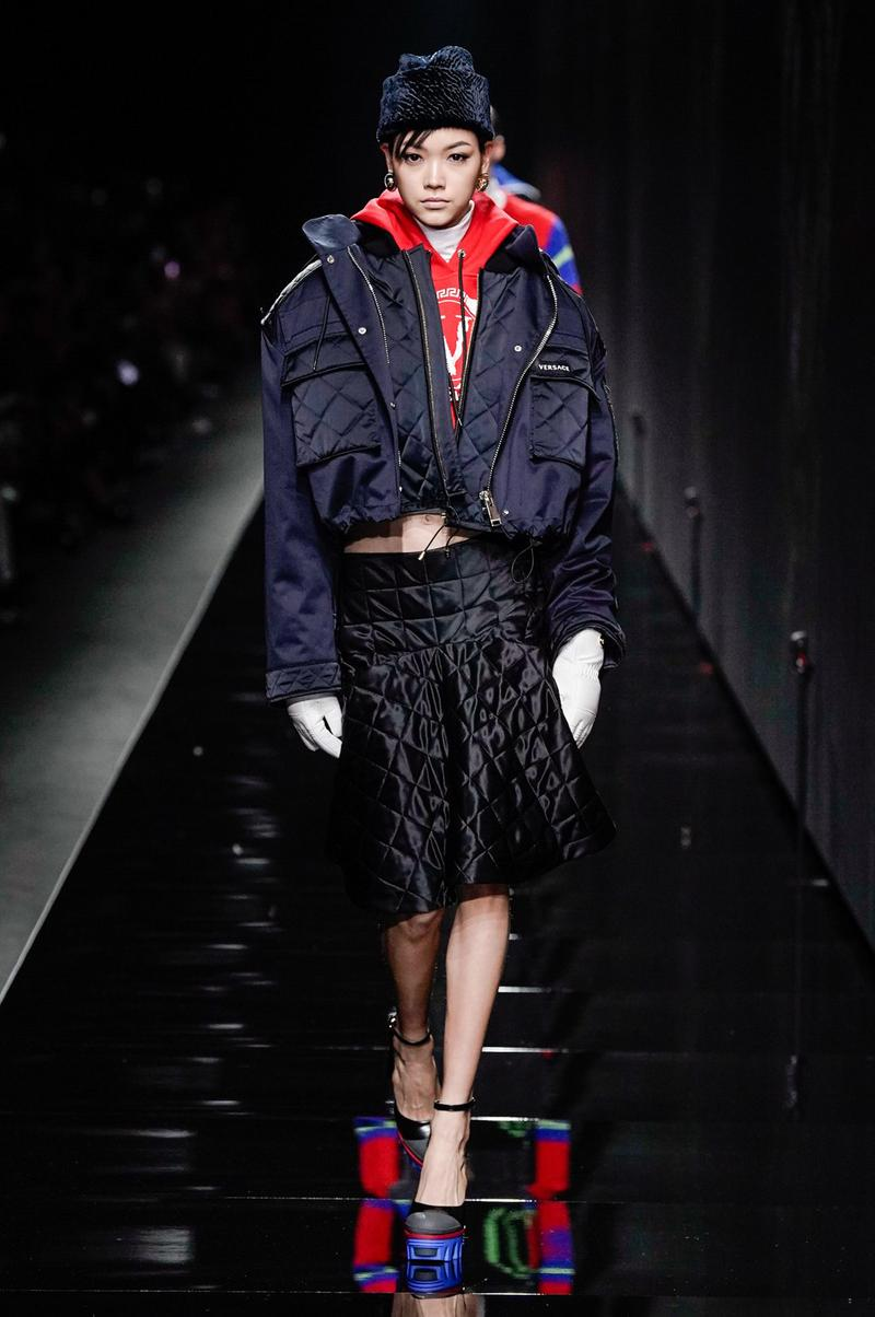 Versace Fall/Winter 2020 Collection Runway Show Nylon Jacket Black