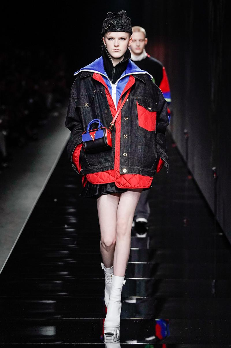 Versace Fall/Winter 2020 Collection Runway Show Jacket Black Red