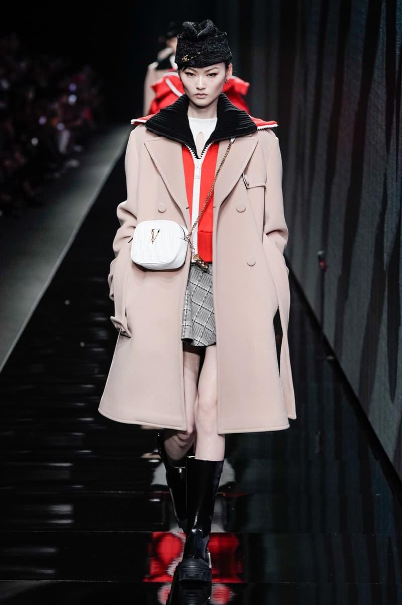 Versace Fall/Winter 2020 Collection Runway Show Coat Beige