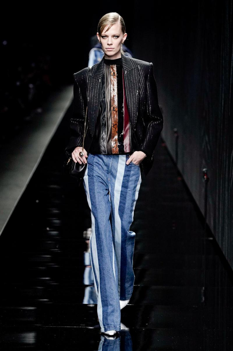 Versace Fall/Winter 2020 Collection Runway Show Jacket Black