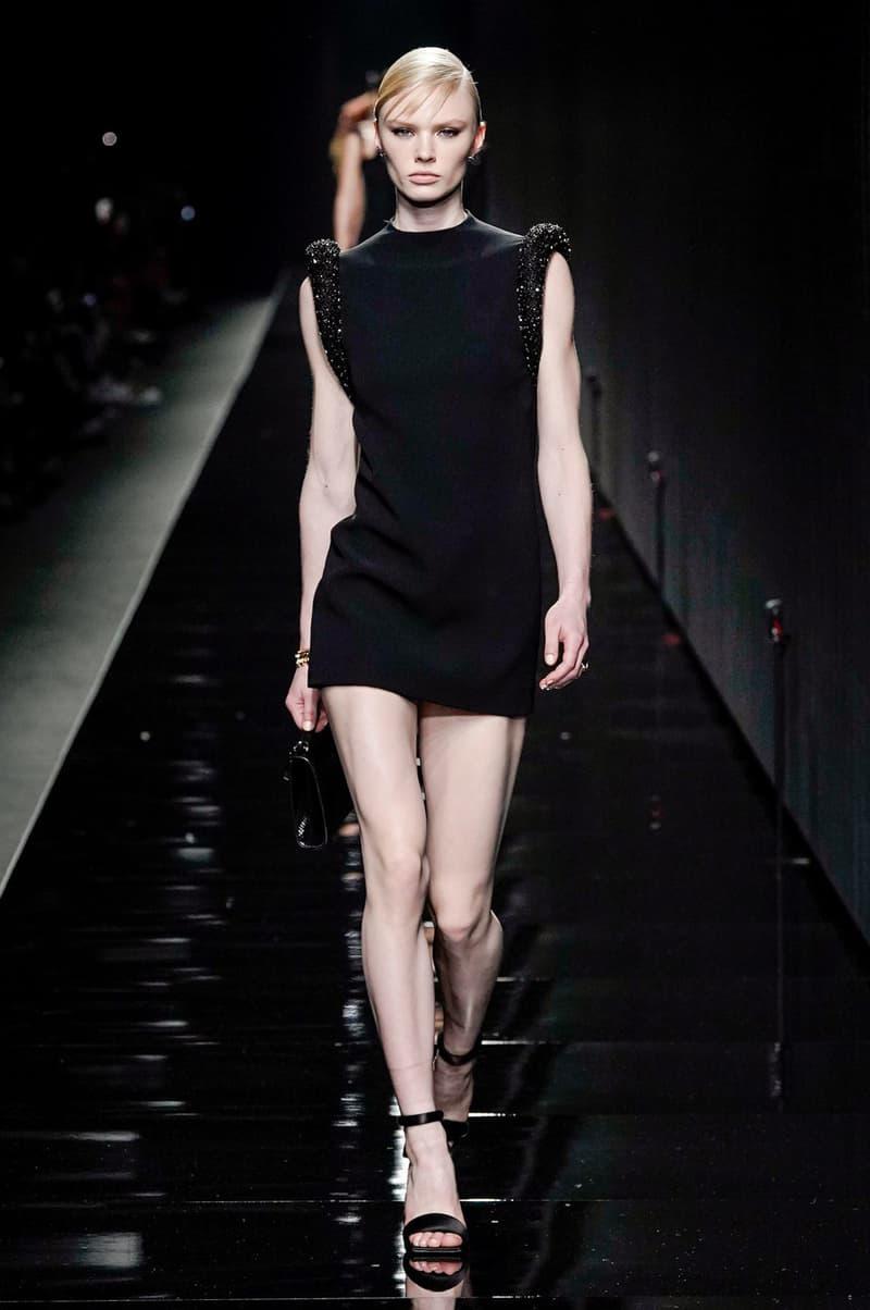 Versace Fall/Winter 2020 Collection Runway Show Mini Dress Black