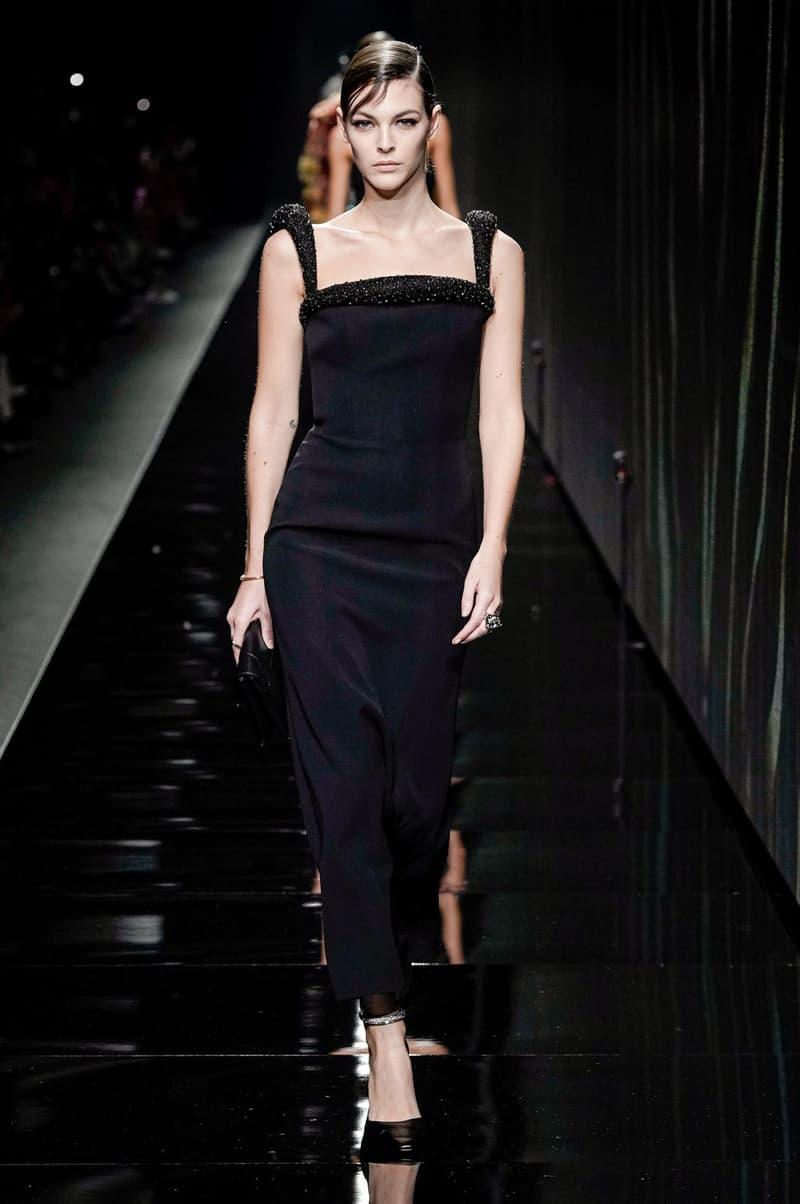 Versace Fall/Winter 2020 Collection Runway Show Dress Black