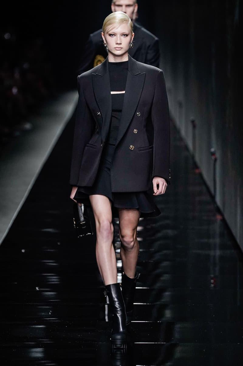 Versace Fall/Winter 2020 Collection Runway Show Blazer Dress Black