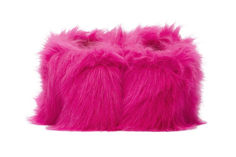 vetements pink faux fur mules heels valentines day gifts