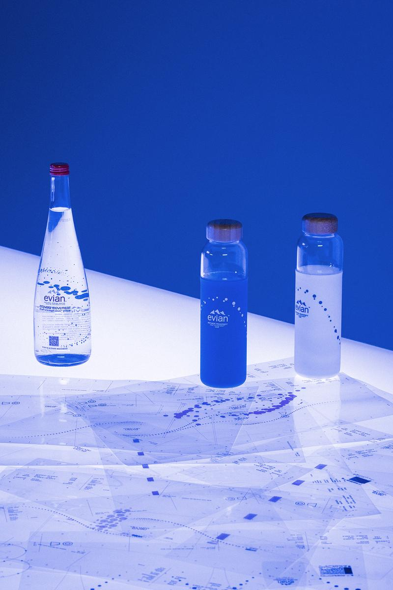 virgil abloh evian water collaboration limited edition sustainability innovation contest new york fashion week nyfw