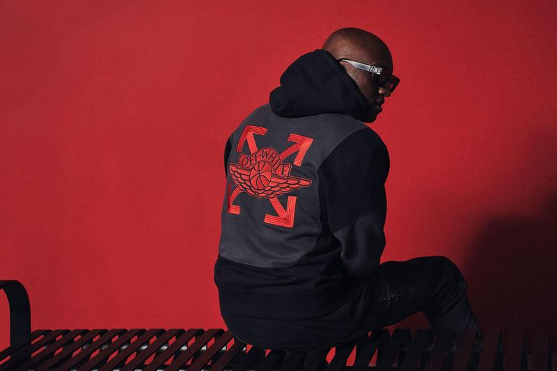 virgil abloh off white nike air jordan 5 jacket red black