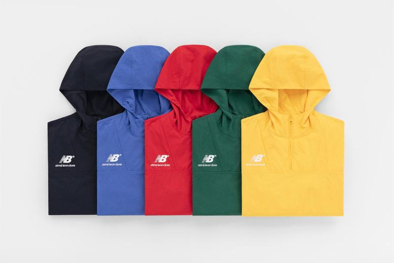 aime leon dore new balance collaboration spring summer outerwear hoodies black blue red green yellow