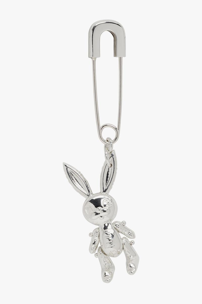 AMBUSH Silver Earrings Necklaces Safety Pin Bunny Teddy Bear Purple Lighter Jewelry Accessories