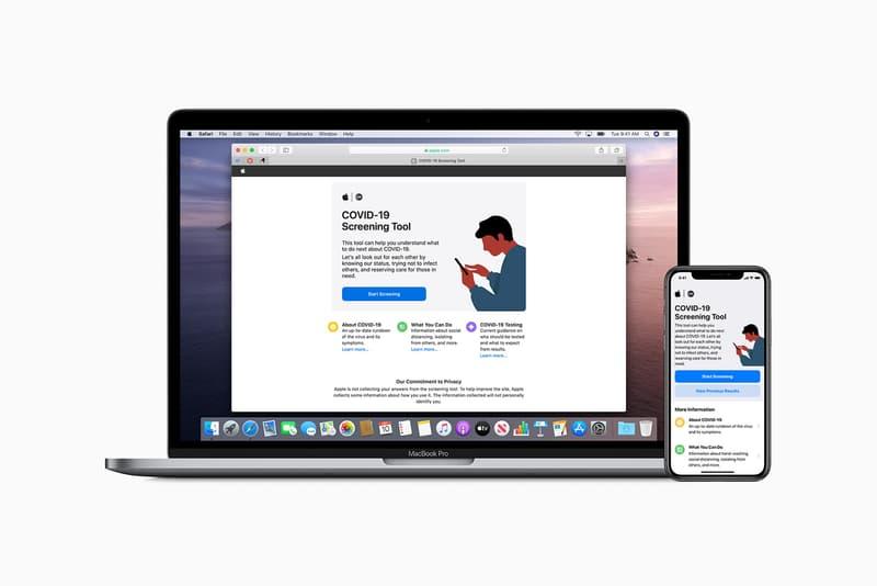 apple coronavirus covid19 screening app website cdc health pandemic outbreak tech