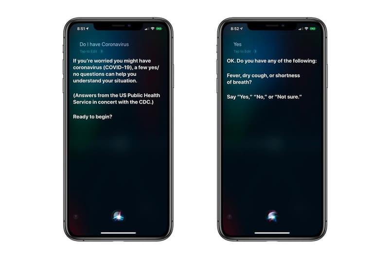 Apple Adds Siri Coronavirus Symptom Questionnaire COVID-19 Prevention Function
