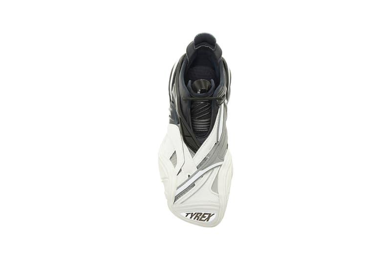 balenciaga tyrex mesh detailed rubber sneakers black white shoes footwear sneakerhead