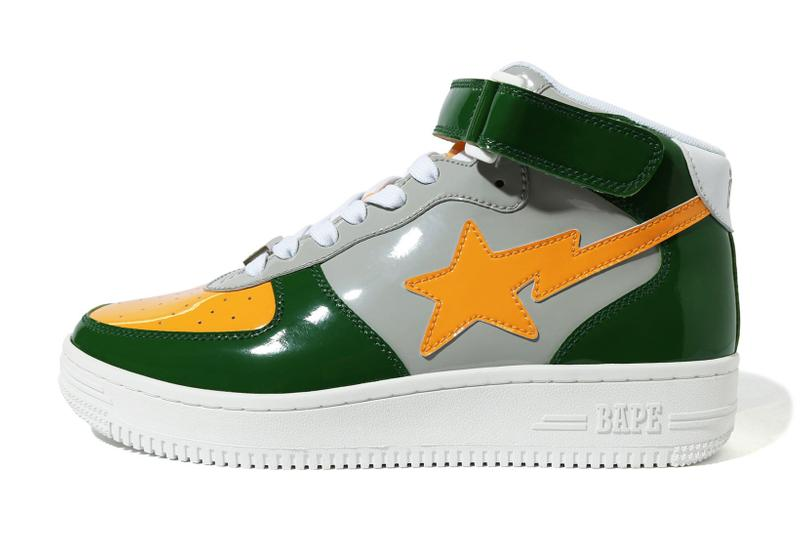 BAPE STA Mid Green Grey Yellow