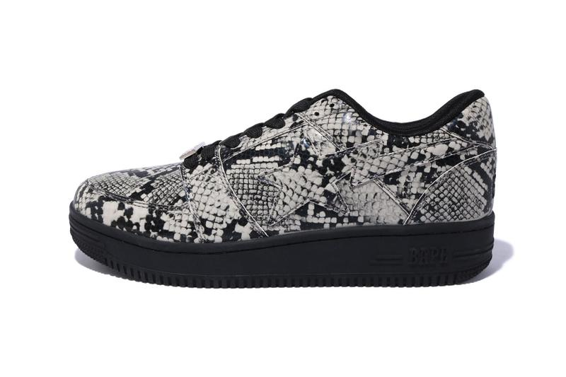 BAPE STA Low Snakeskin Grey