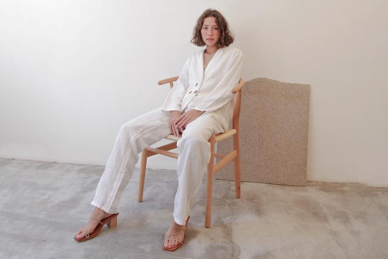 Munimuni filipino philippines fashion brand white blazer pants models minimalist
