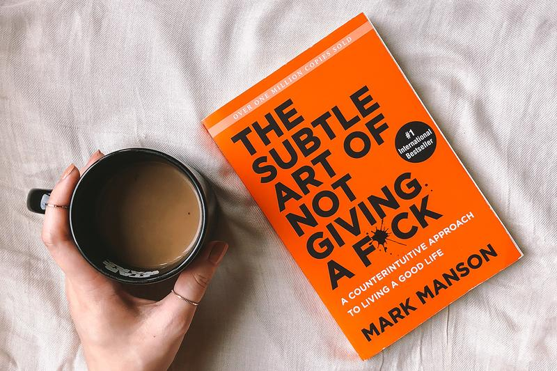the subtle art of not giving a fuck mark manson book self help bed coffee mug