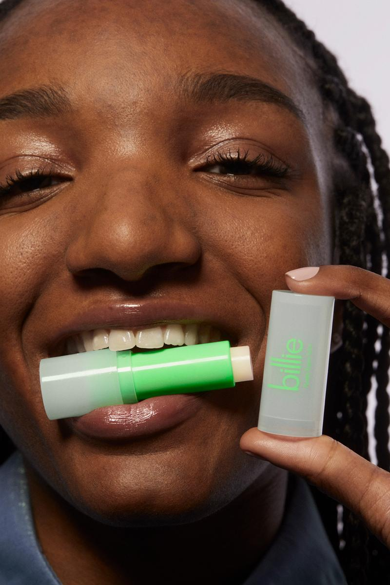 billie skincare haircare lip balm makeup wipes clean cash calculator beauty