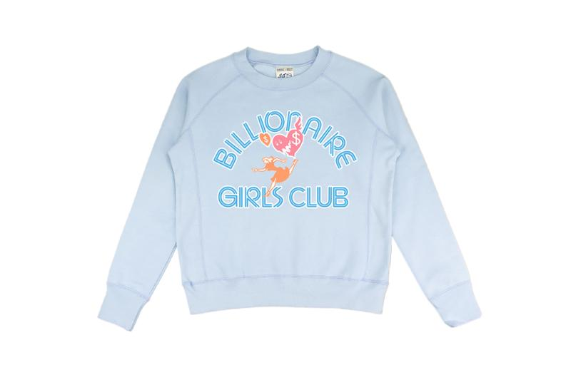Billionaire Girls Club Relaunch Capsule Collection Sweater Blue
