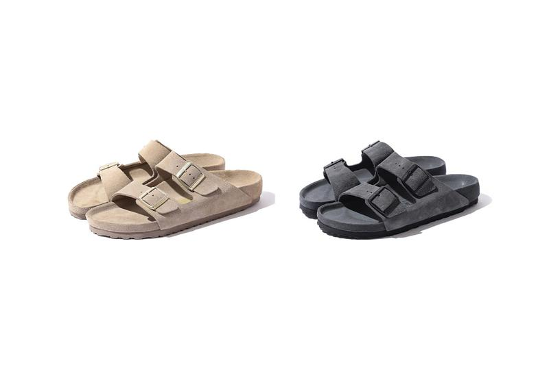 birkenstock beams collaboration arizona sandal brown taupe grey shoes footwear