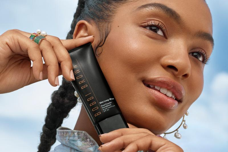 bobbi brown skin long wear fluid powder matte foundation spf makeup yara shahidi