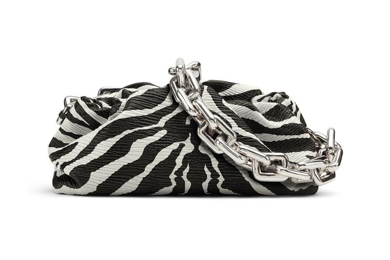Bottega Veneta Chain Pouch Bag Zebra Print Spring/Summer 2020