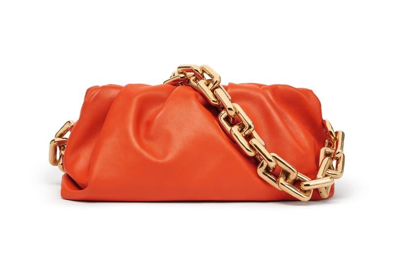 Bottega Veneta Spring/Summer 2020 Chain Pouch Bag Orange
