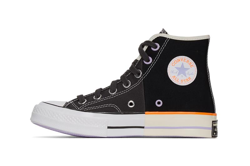 converse chuck 70 high sneakers reconstructed black off white shoes footwear sneakerhead yellow purple orange