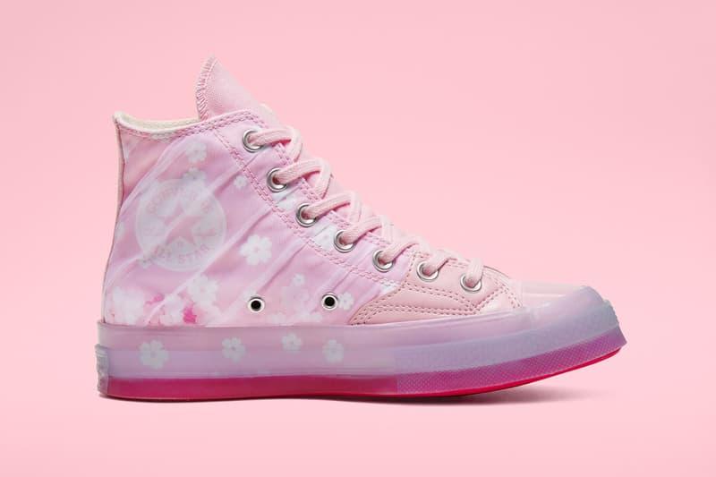 converse chuck 70 hi top sakura pack pink white organza leather