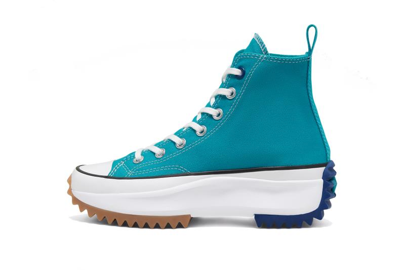 Converse Run Star Hike SS20 Red Teal Release Platform Shoe Spring Colorway