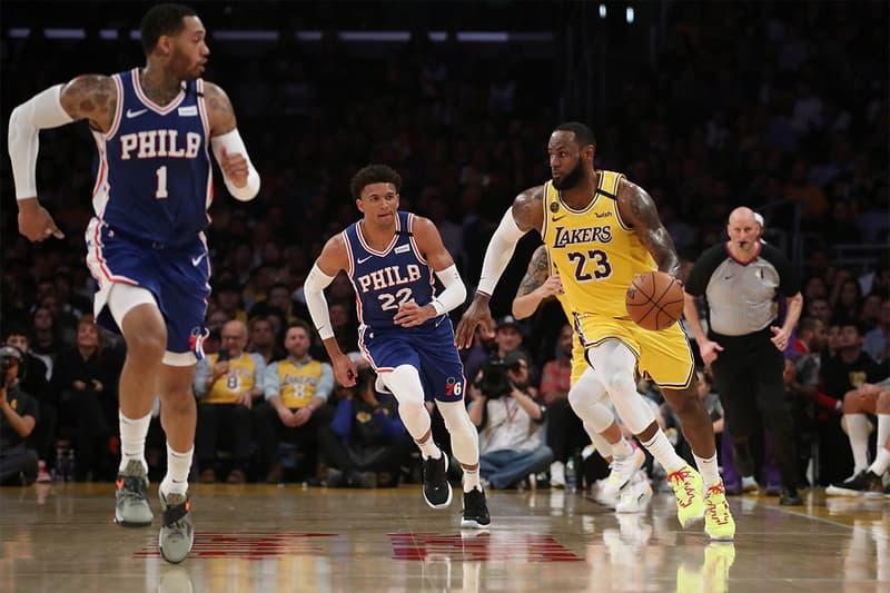 NBA Lakers Philadelphia 76ers Basketball Game