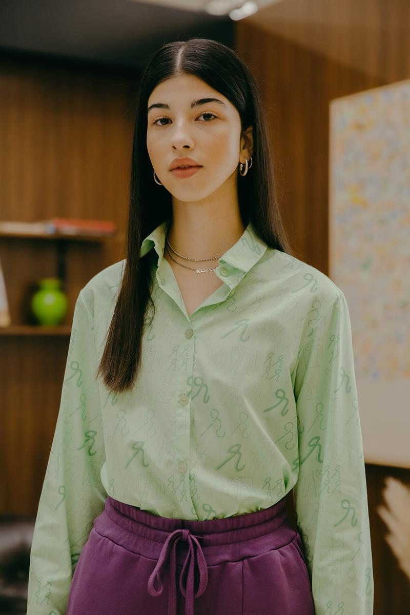Daniëlle Cathari SS20 Collection Campaign Button Down Green