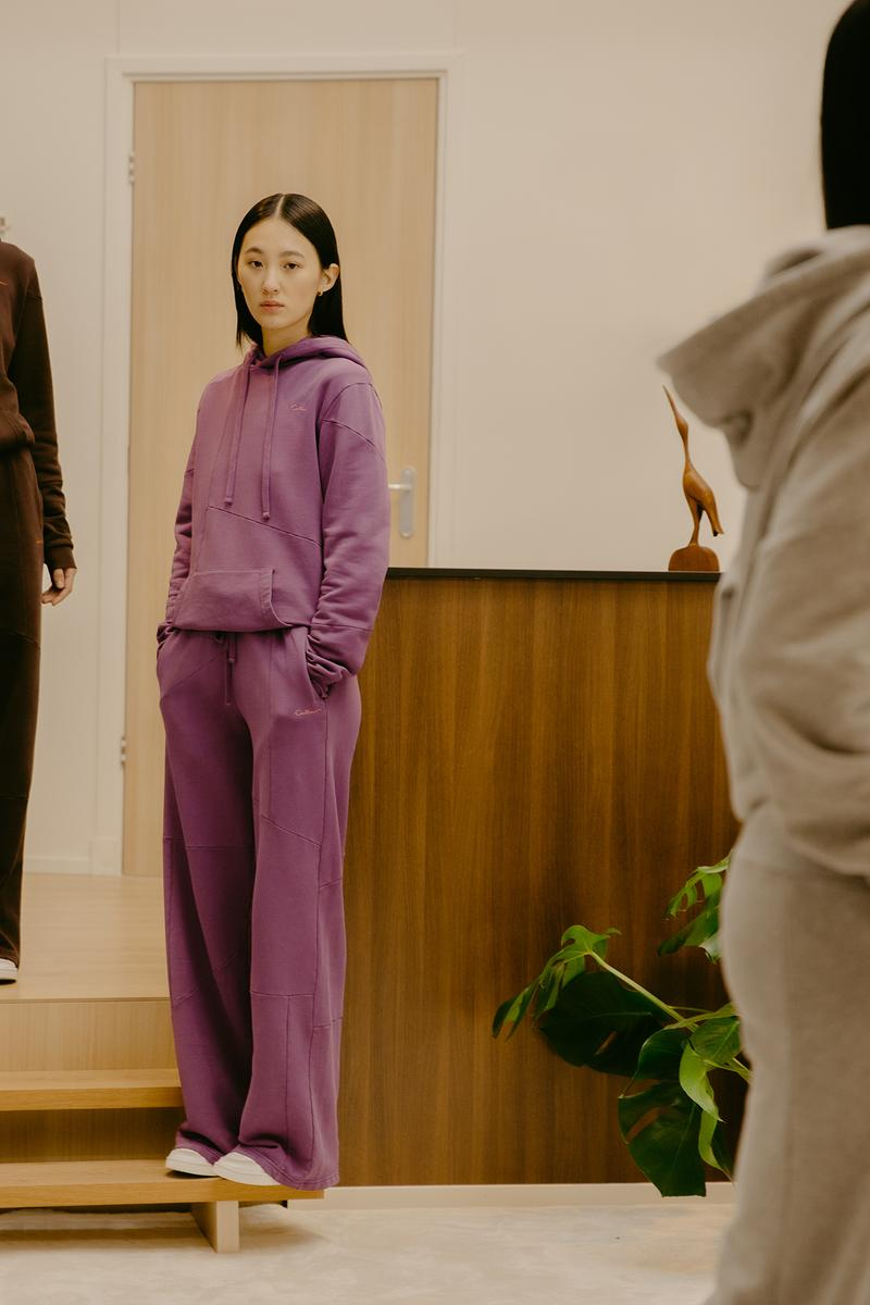 Daniëlle Cathari SS20 Collection Campaign Hoodie Sweatpants Purple