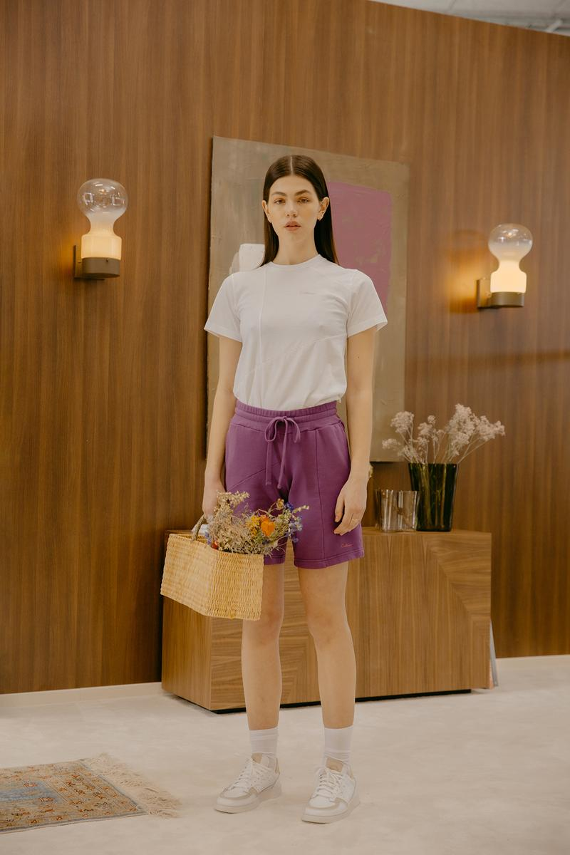 Daniëlle Cathari SS20 Collection Campaign Sweat Shorts Purple
