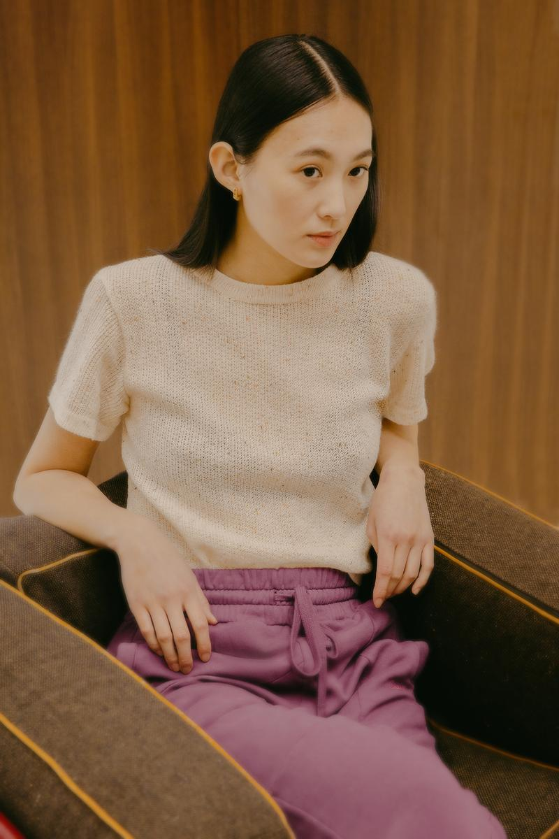 Daniëlle Cathari SS20 Collection Campaign Knit Top Beige