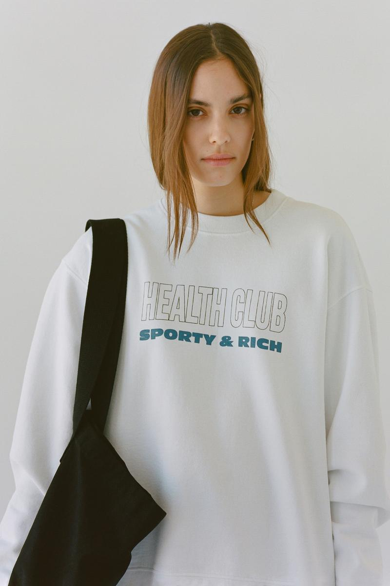 Sporty & Rich Emily Oberg Spring 2020 Collection Campaign Sweatshirt Logo T-Shirt