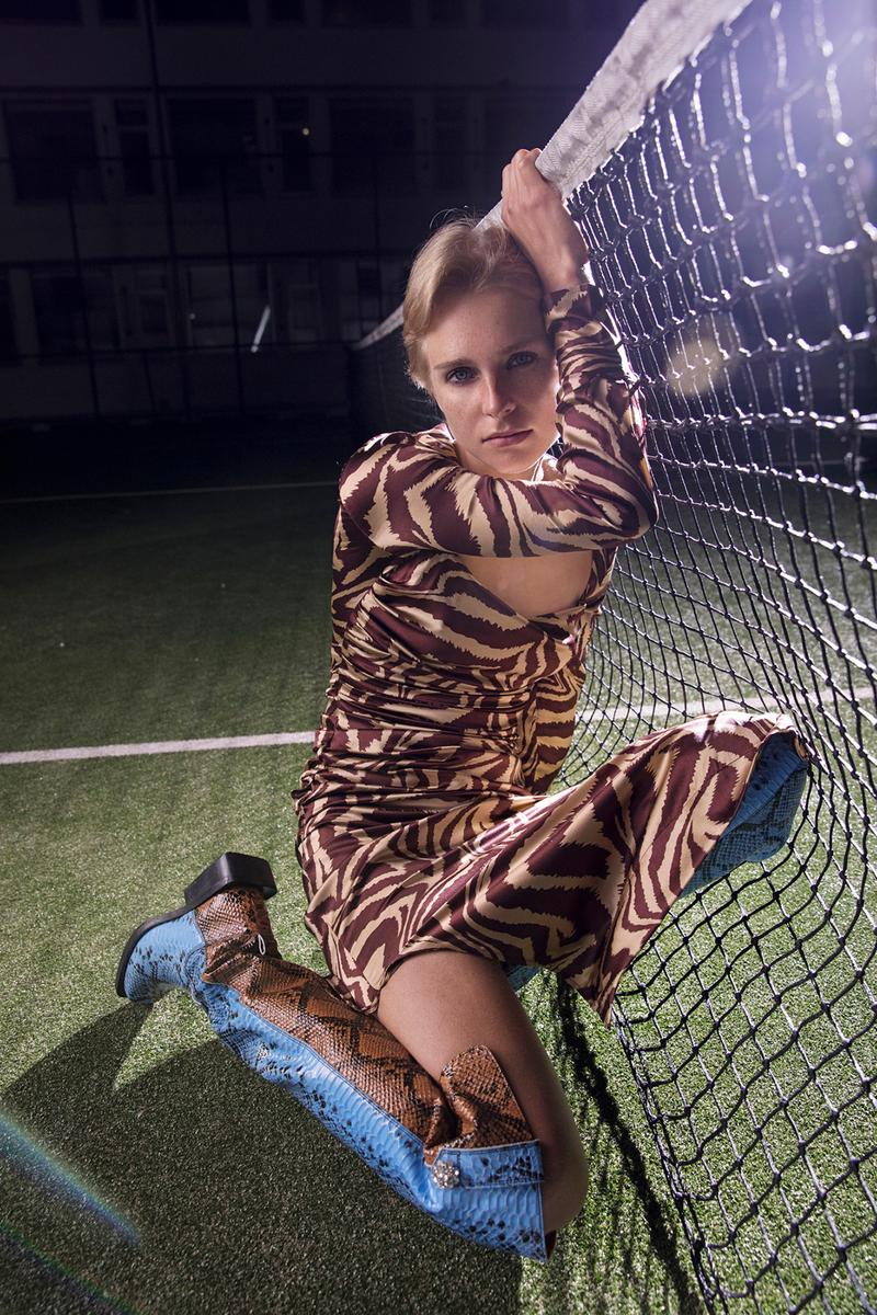 GANNI Spring/Summer 2020 Collection Tiger Stripe Dress