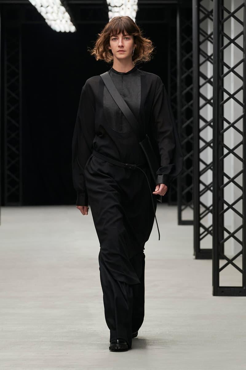 HYKE Fall/Winter 2020 Collection Runway Show Pants Long Sleeve Black