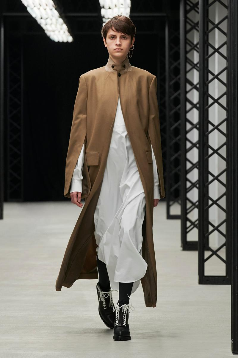 HYKE Fall/Winter 2020 Collection Runway Show Coat Brown