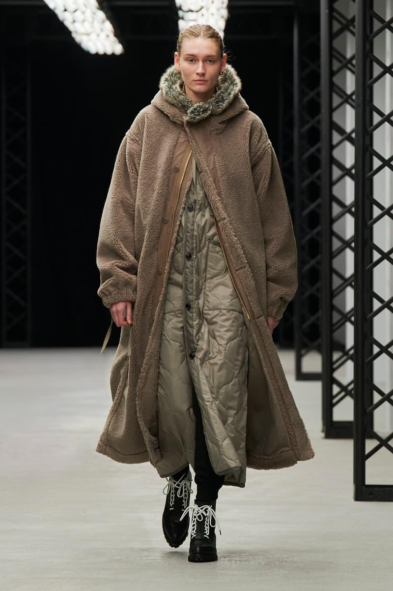 HYKE Fall/Winter 2020 Collection Runway Show Faux Fur Coat